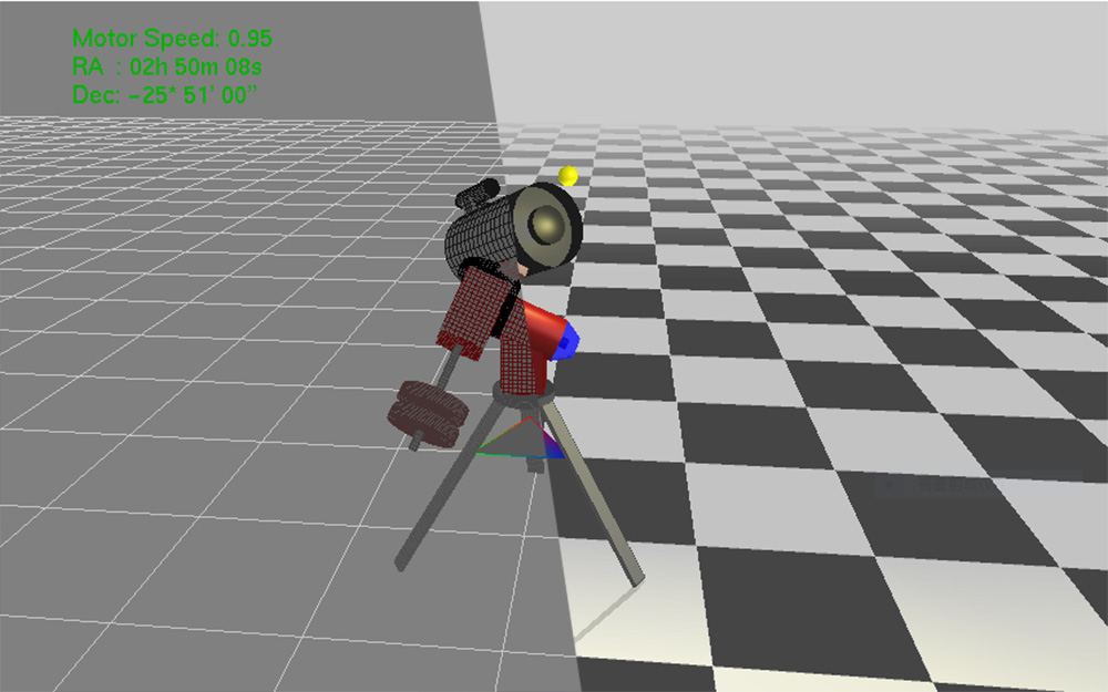 A complete 3D Telescope (with equatorial) simulator written in OpenGL.